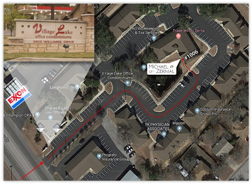 map of my office location with landmarks